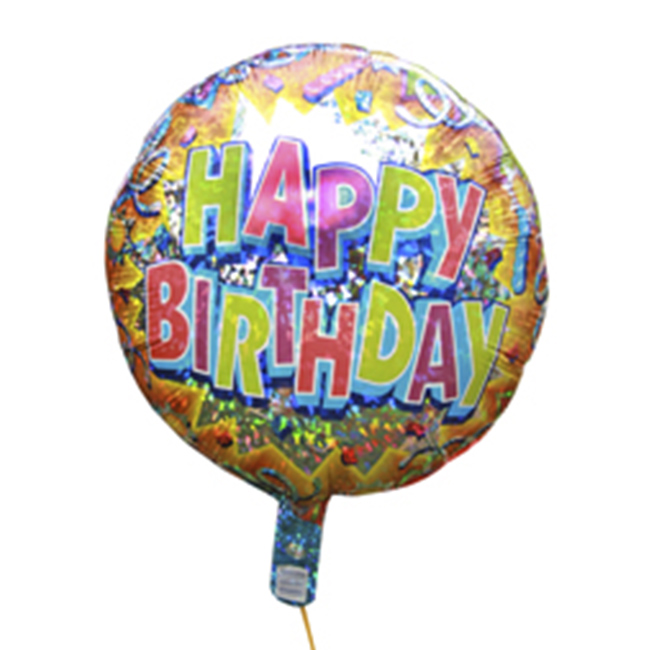 ShopBalloonsHappy Birthday 35 Cm Helium Filled Balloon With String And Weight